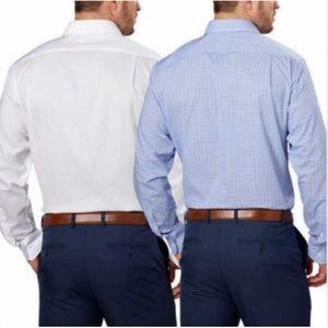 Tommy Hilfiger Shirts - Tommy Hilfiger Men's 2-Pack Dress Shirt, White/Blu